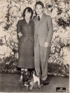 Luise with Clifford Odets, wedding day 1937