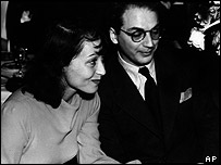 Luise Rainer and Clifford Odets at the 1938 Academy Awards