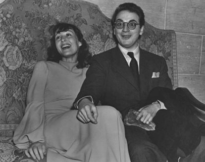 Luise with her first husband, the playwright Clifford Odets.