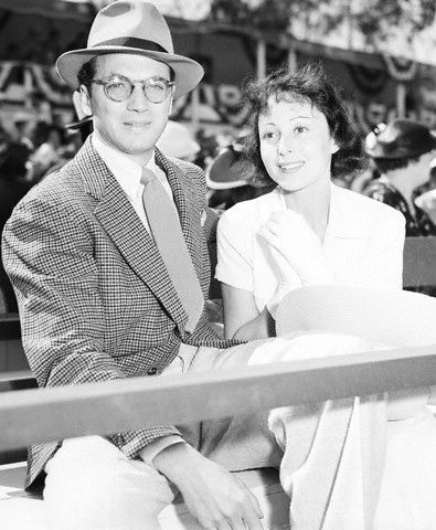 Playwright Clifford Odets and actress Luise Rainer at a polo match, 1930s