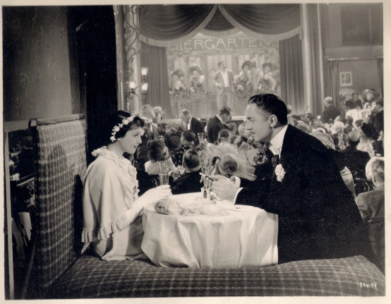 Luise Rainer and William Powell in Escapade (1935) [note the back of the set can be seen behind the seat in this publicity shot]