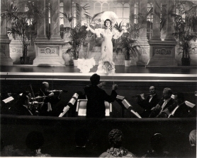 Luise in one of her musical numbers