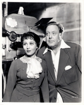 Luise Rainer with director Robert Z. Leonard