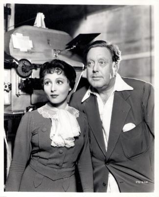 Luise Rainer with director Robert Z. Leonard
