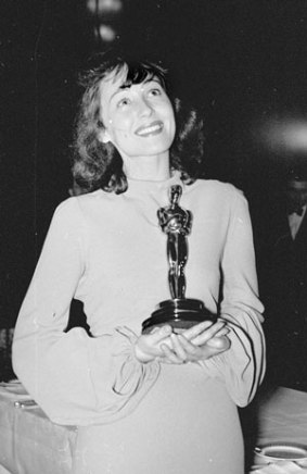 Luise with her first 'Best Actress' Oscar in 1937