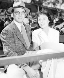 Luise with first husband Clifford Odets at a polo match, 1937/38
