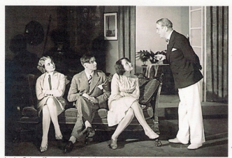 Luise (centre) on stage in an unknown Max Reinhardt production, early 1930s.
