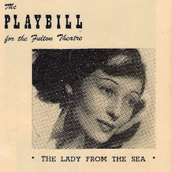 The Lady from the Sea - Playbill - 250