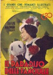 """Cover of the Italian novella series """"I Grandi Cine-Romanzi Illustrati""""; this edition for """"The Great Ziegfeld"""", published in 1937."""