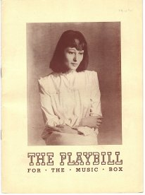 Playbill for the production of A Kiss for Cinderella at the Music Box Theatre, New York, 1942.
