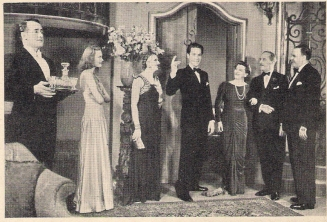Jack Lambert, Hazel Terry, Jacqueline Squire, Griffith Jones, Jeanne de Casalis, Charles Maunsell and C. Jervis Walter in Behold the Bride (1939)