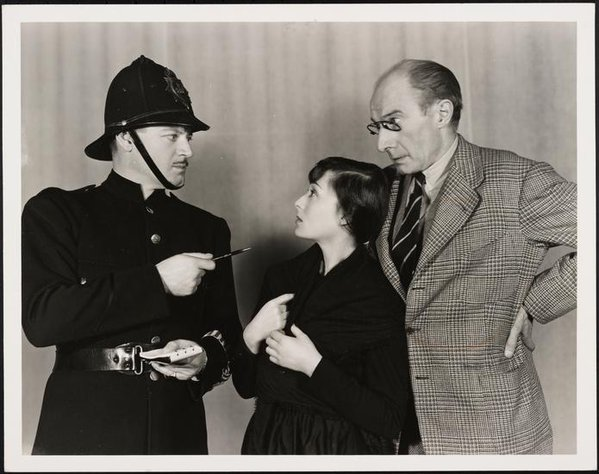 Ralph Forbes, Luise Rainer and Roland Bottomley(?) in A Kiss for Cinderella (1942)