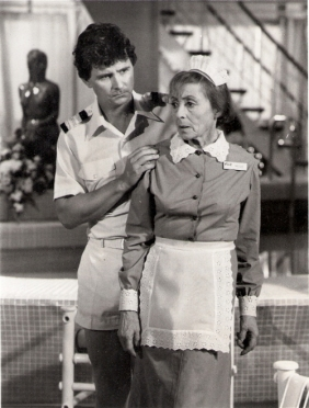 Fred Grandy and Luise Rainer in The Love Boat (1984)