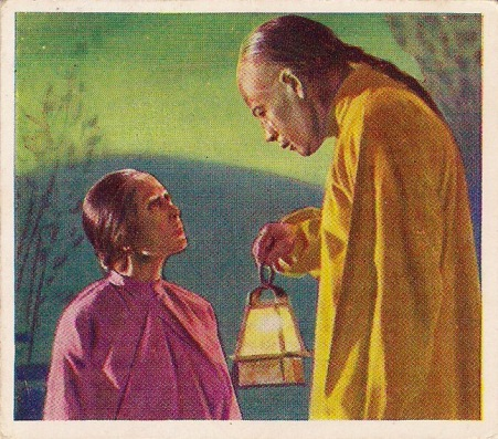 Cigarette Card image of Luise Rainer and Paul Muni in The Good Earth (1937)