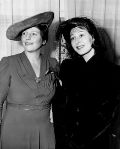 Pearl Buck and Luise Rainer, author and star of The Good Earth