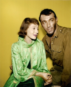 Publicity still for Finest Hour (1965): Luise Rainer and Rick Jason