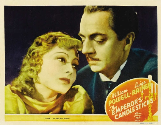 Lobby card for The Emperor's Candlesticks (1937)