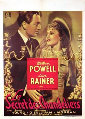 French poster for Les secret des Chandeliers (1937)