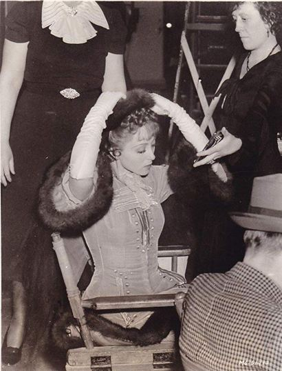 Luise Rainer on the set of The Emperor's Candlesticks (1937)