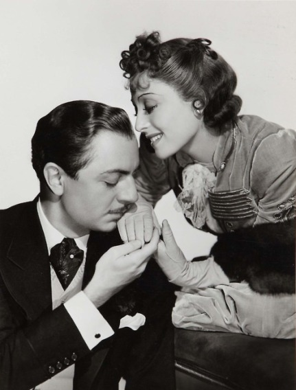 MGM publicity still of stars William Powell and Luise Rainer, for The Emperor's Candlesticks (1937)
