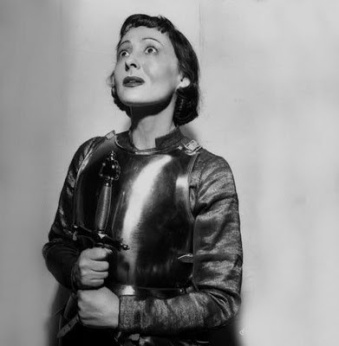 Publicity still of Luise Rainer as Joan of Lorraine, 1951