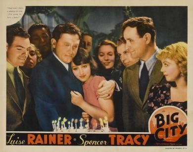 Lobby card for Big City (1937)