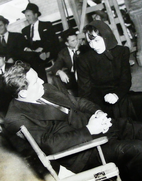 Spencer Tracy and Luise Rainer on the set of Big City (1937)