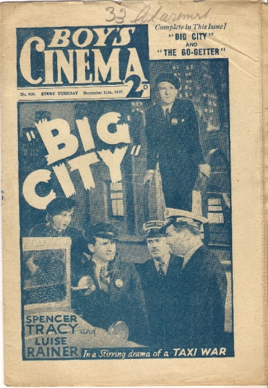 Big City on the cover of Boy's Cinema magazine (1937)