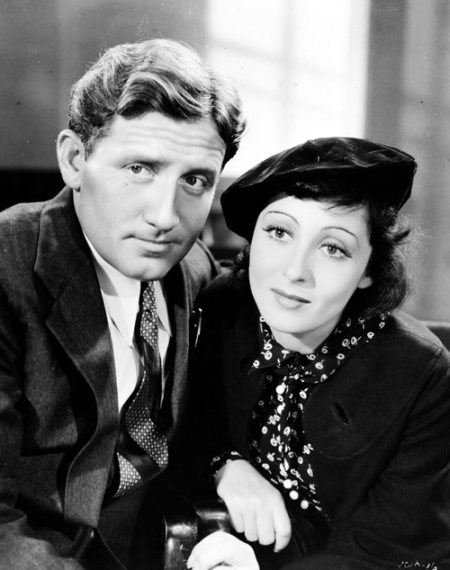 MGM publicity photo for Big City (1937), starring Spencer Tracy and Luise Rainer
