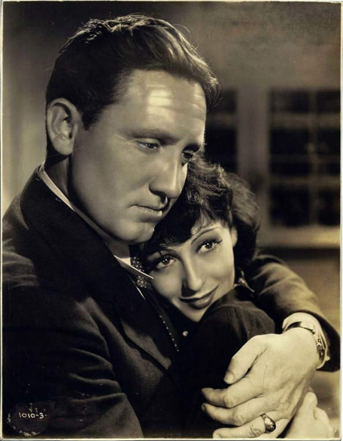A tender monet for Spencer Tracy and Luise Rainer in Big City (1937)