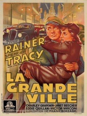 French film poster for La Grande Ville (Big City, 1937)