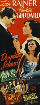 Dramatic School re-issue poster highlighting the role of Paulette Goddard