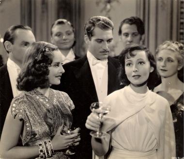 Paulette Goddard, Alan Marshal and Luise Rainer in Dramatic School (1938)