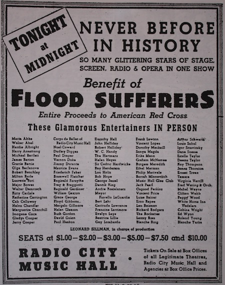 Flood Relief Benefit Advert
