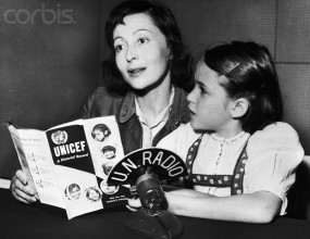Luise Rainer and her daughter Francesca broadcast on UN Radio