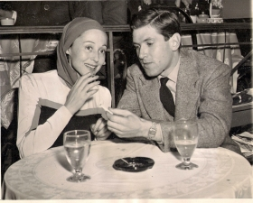 Luise Rainer and her second husband Robert Knittel