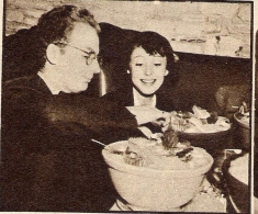 Snapped whilst dining out, Clifford Odets and Luise Rainer