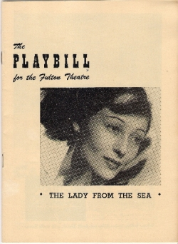 The Lady from the Sea - Playbill